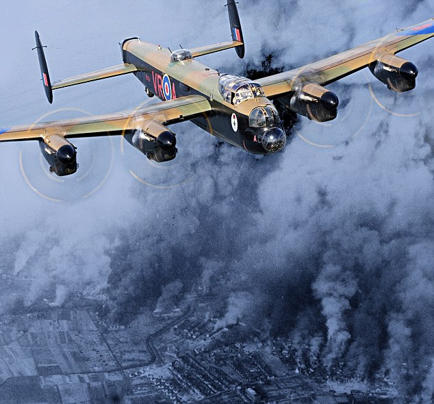 Target: The men in the Lancaster Bomber were attacking factories in the Czech brewing town Pilsen