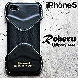 Roberu ( ロベル ) iPhone5 専用 レザーケース ブラック