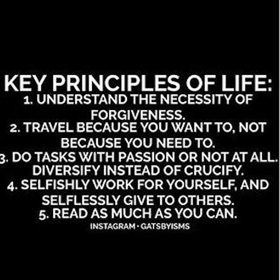 Key Principles Of Life Pictures Photos And Images For Facebook