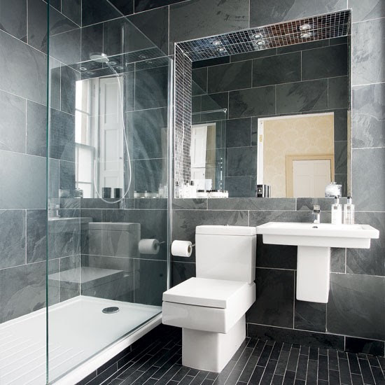 Modern charcoal-grey bathroom | Bathroom designs | Bathroom ...