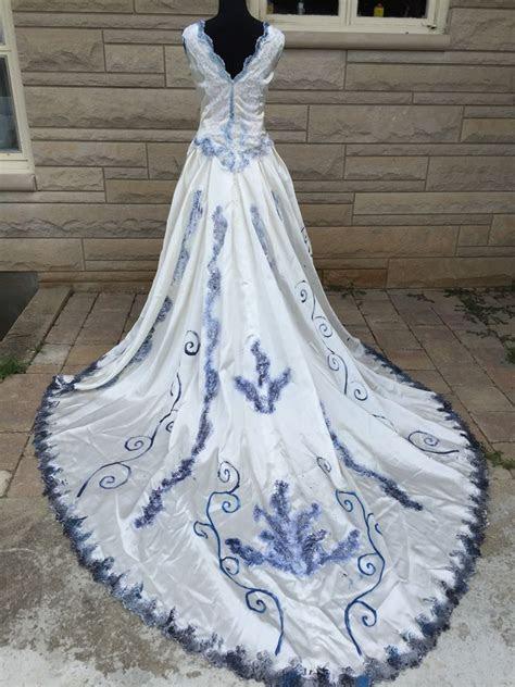 corpse bride wedding dress emily halloween costume sz