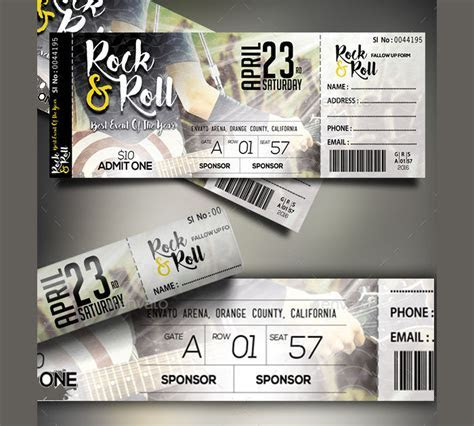 24  Event Ticket Templates   PSD, AI, Word   Design Trends