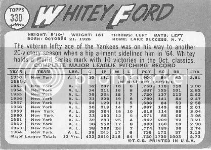 #330 Whitey Ford (back)