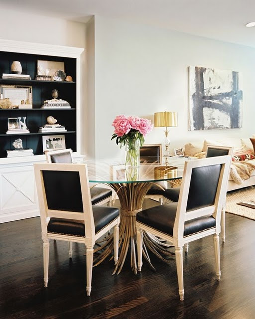 Black and White Dining Room via Lonny Magazine