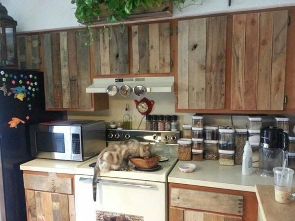 Wood Pallet Kitchen Cabinets Diy