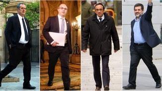 Joaquim Forn, Jordi Turull, Josep Rull i Jordi Sànchez (ACN)