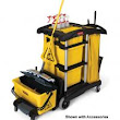 Rubbermaid 9T73 Hygen Microfiber Janitor Cleaning Cart