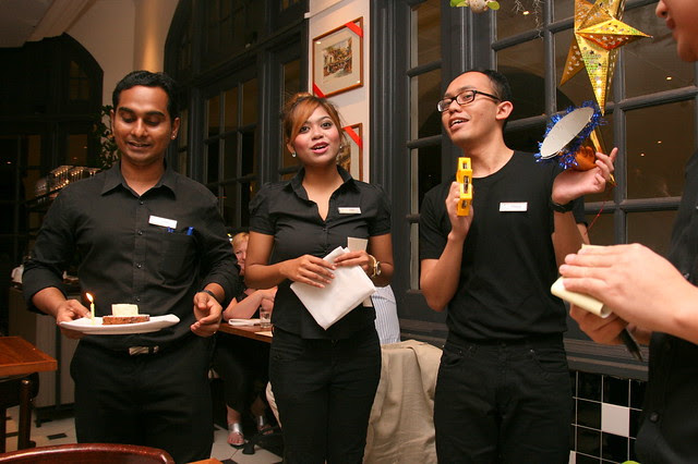 The staff were so obliging; they sang a happy birthday song