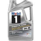 Mobil 1 120760 Synthetic Motor Oil 0W-40 5 Quart