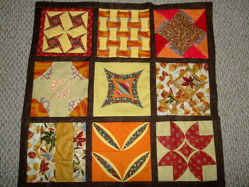 Cathedral Windows Quilt Along Top