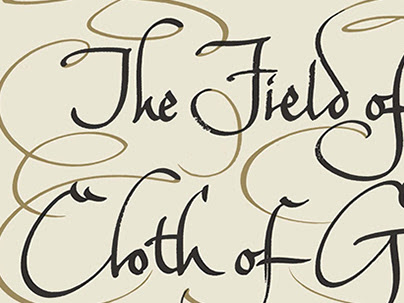 The Field of Cloth of Gold Hand Lettered Title