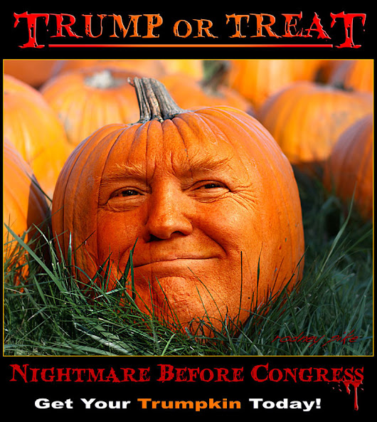 Trump or Treat - Just in time for Halloween - Rodney Pike Humorous Illustrator