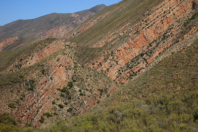 Tortured rock formations along the route to Gamkaskloof (Die Hel)