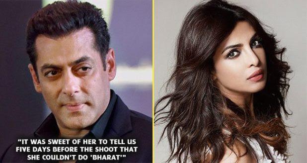 Salman Khan Takes A Dig At Priyanka Chopra For Leaving Bharat For A Hollywood Film