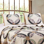 Greenland Home Fashion Sweet Caroline Authentic Patchwork Pillow Sham, Multicolor - King Multi Ring