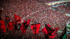 Torcida do Flamengo durante a final da Copa do Brasil, no Maracanã