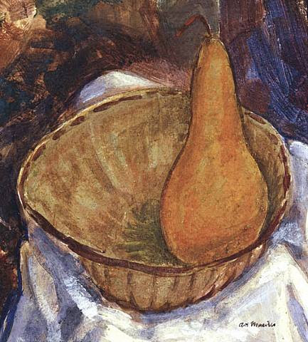 Alfred Henry Maurer, Bowl with Pear: Still Life, circa late 1920's
