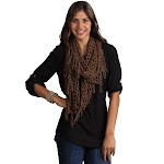 Saro Lifestyle Women's Infinity Knitted Scarf, Brown