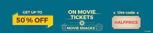 Bookmyshow :Get 50% off on movie tickets and movie snacks