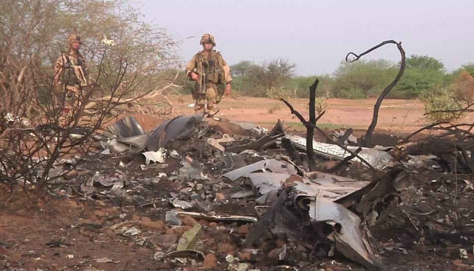 Los restos del avión de Swiftair