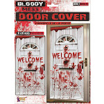Bloody Mess Welcome Door Cover 15' Long Halloween Party Accessory Adult