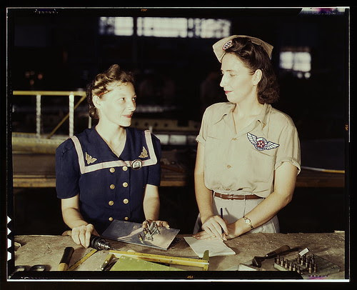 Pearl Harbor widows have gone into war work to carry on the fight with a personal vengeance, Corpus Christi, Texas.