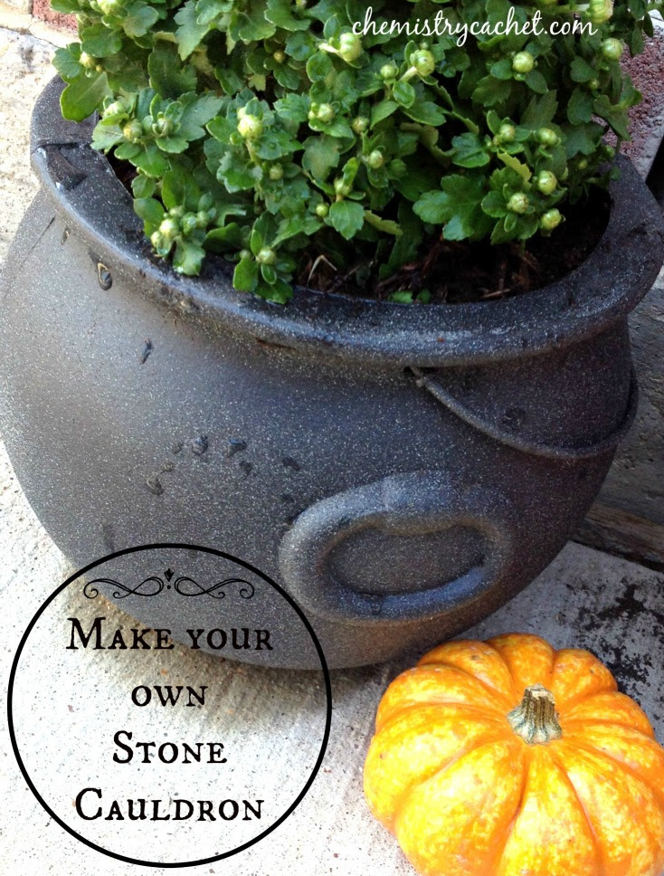 How to Make Your Own Stone Cauldron chemistrycachet.com