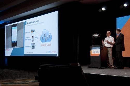 "Adam Messinger and Cameron Purdy, JavaOne 2011 San Francisco ""Java Strategey Keynote"""