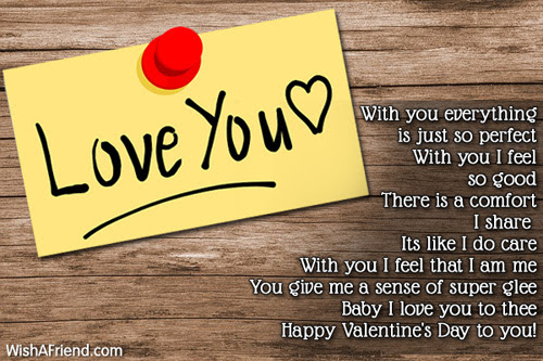 With You In Life Valentine Poem For Her