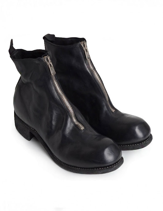 Guidi PL1 black horse leather ankle boots
