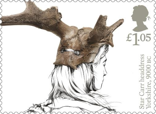 Star Carr stamp - Archaeology, The University of York