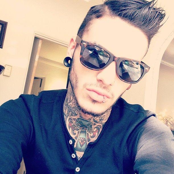 Neck Tattoo Designs For Men Mens Neck Tattoo Ideas