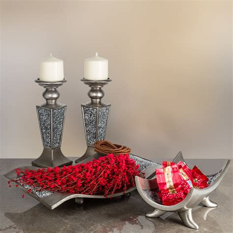 creative scents schonwerk pillar candle holder set