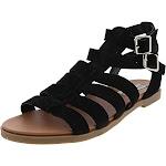 Steve Madden Womens Diego Suede Strappy Flat Sandals