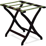 Wooden Mallet Designer Curve Leg Luggage Rack with Tapestry Webbing