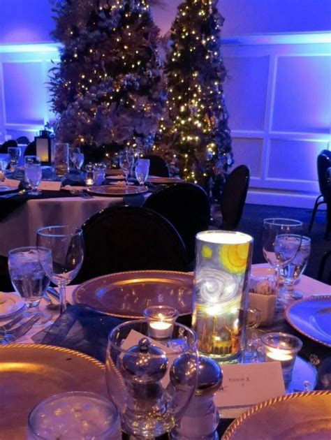 #starry #night #centerpiece #paris #theme   New Years Eve