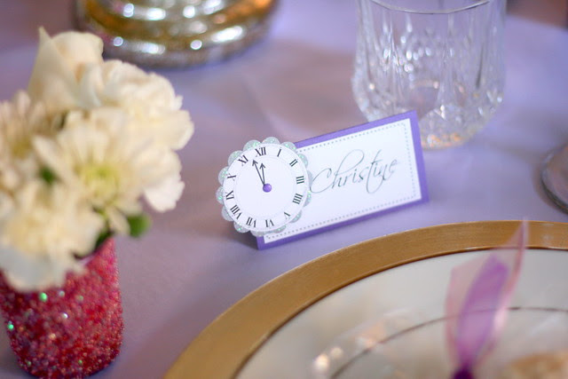Clock Place Card