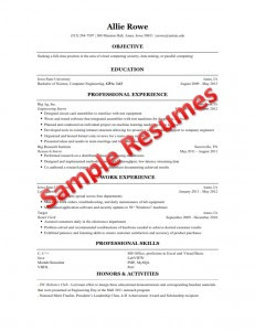 Resume Template Collection Resume Template Engineering Student