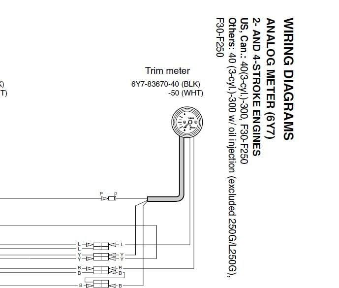 35 boat trim gauge wiring diagram