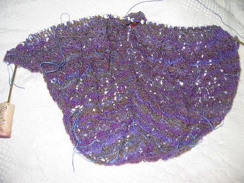Swallowtail shawl progress