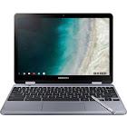 Samsung Plus 525QBBI 12.2″ Convertible Chromebook - Celeron 3965Y 1.5 GHz - 4 GB RAM - 32 GB SSD - Stealth Silver