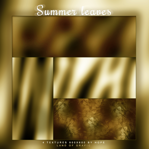 Texture pack - Summer leaves by Hope636
