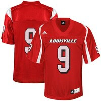 adidas Louisville Cardinals #9 Replica Football Jersey - Red
