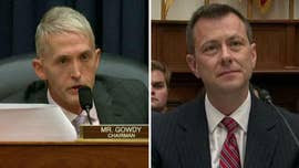 "Republican Rep. Trey Gowdy tore into FBI official Peter Strzok during Thursday's hearing before the House oversight and judiciary committees, accusing him of ""textbook bias"" with his anti-Trump texts."