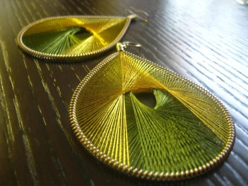Paradise -Thread Earrings-One Dollar Shipping