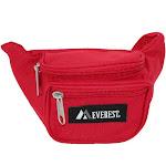 Everest Kids' Fabric Adjustable Organizer Waist Pack - Red one size