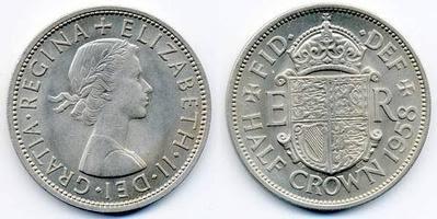 1958 Half Crown