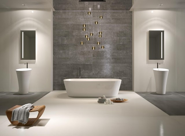 White and Grey Metal.jpg - contemporary - bathroom - - by ...