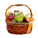 "The Fruit Company ""Special Occasions"" Fruit Basket, Orange 'Thank You'"
