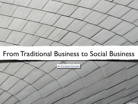 From traditional business to social business